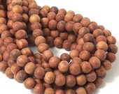 Unfinished Bayong Wood, 8mm, Round, Smooth, Natural Wood Beads, Round, Full strand, 50pcs - ID 1836