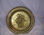 English Brass Plate-Lombard C and A Ltd.-Masted Ship