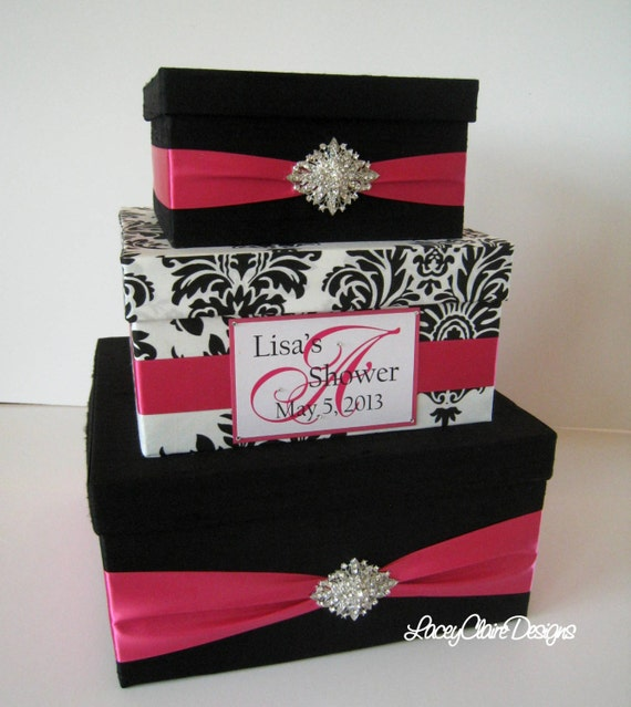 Wedding Shower Gift Card Box : Bridal Shower Card Box, Event Party Card Holder, Custom Made