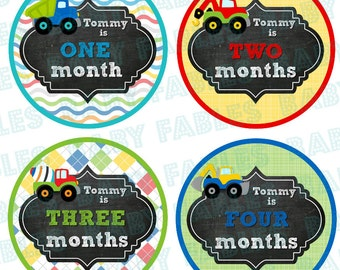 PERSONALIZED Monthly Baby Stickers Baby Month Stickers Baby Boy Month Stickers Monthly Photo Stickers Monthly Milestone Stickers