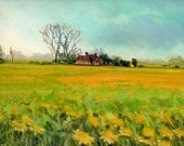 Spring Scene 1 - Original Pastel and Chalk Drawing