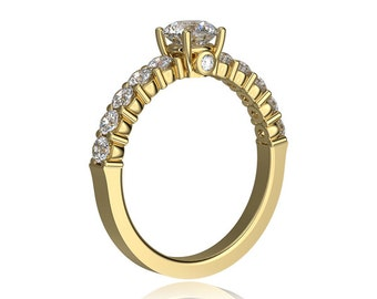ON SALE ! 0.76 Carat Diamond Engagement Ring in Yellow Gold