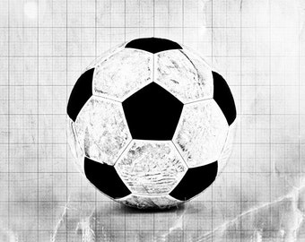 Vintage Soccer Ball Black and White Graph Photo Print, Boys Room decor, Boys Nursery Ideas, Sports art, Sport Prints, Man Cave
