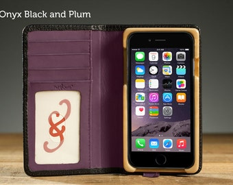 The Little Pocket Book case for iPhone 6/6S - Black Plum