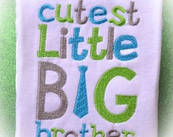 Cutest Little Big Brother Boutique Shirt