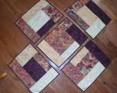 Autumn batik blocks placemats