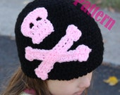 INSTANT DOWNLOAD Skull & Bone Jolly Roger Hat Crochet PATTERN