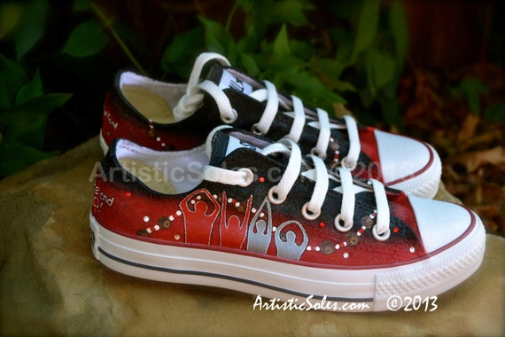 ohio state custom converse all shoes low by artisticsoles