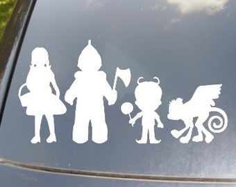 Wizard of Oz Family Car Sticker set of 4