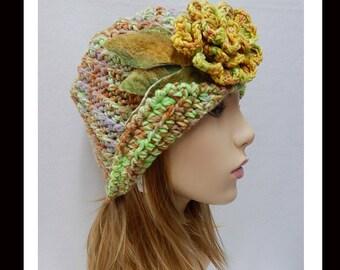 Women's Handmade Crochet Hat-311 Women's Handmade Cloche hat, Women's Cloche Hat, Women's Formal Hat, Women's Accessories, Hair Accessories