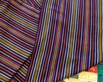 Guatemalan Fabric Purple Stripe