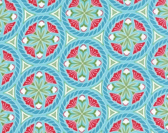 Pedal Pushers - Floral Crest in Sky by Lauren & Jessi Jung for Moda Fabrics
