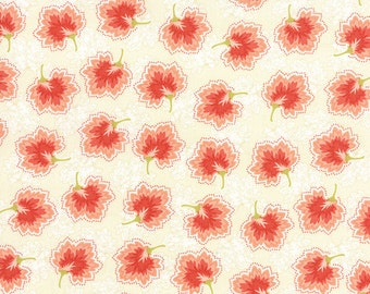 Somerset - Geraniums in Cream by Fig Tree & Co for Moda Fabrics