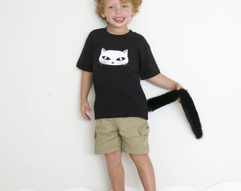 Cat T-shirt and Tail: 2-3 years & 3-4 years