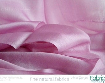 "Silk fabric. Peace Silk. Ahimsa Silk. Handwoven. Slow Fashion Fabric. Natural organic fairtrade. 42"" / 106 cm wide. Lilac path color."