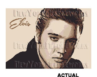 Elvis Cross Stitch, Elvis Presley Pattern, Cross Stitch Pattern, Elvis, Elvis Abstract Pattern, Modern Cross Stitch from NewYorkNeedleworks