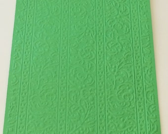 6 Holly Ribbons Embossed Cardstock 5 by 7 - Choose your Colors