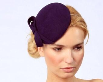 Mini Hat-Navy Blue-Wool Felt