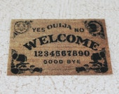 Miniature Ouija Board Door Mat for Fortune Teller Dollhouse or Playscale