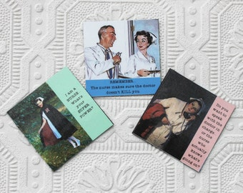 Nurse Magnets Series Two Set of Three Sassy Sayings