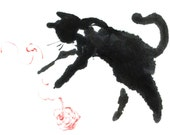 Cat with yarn  - Set of five notecards
