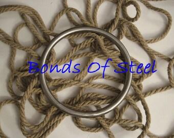 New size Shibari Ring Bonds of Steel BDSM Rope Mature