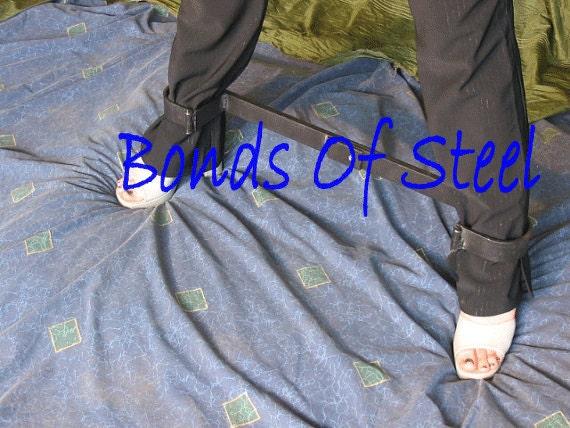 Long Bar Ankle Cuffs Restraint Bonds of Steel BDSM Mature