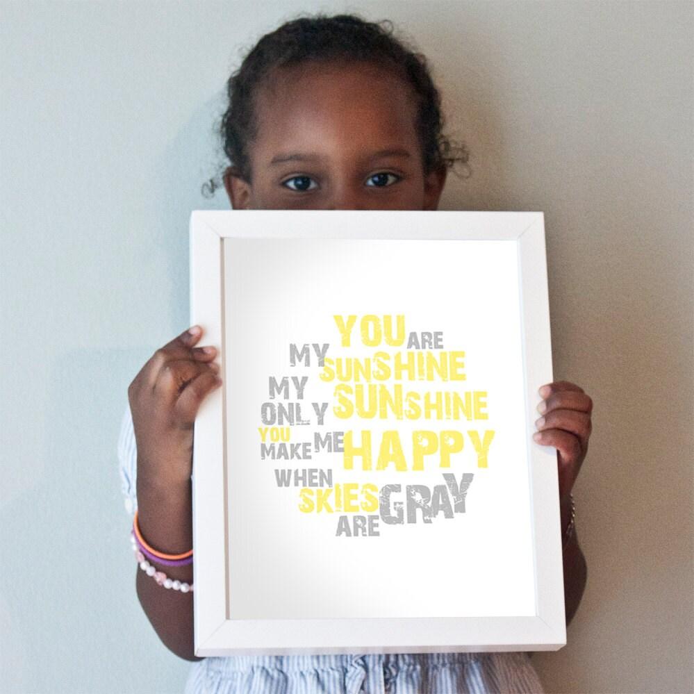 Printable 8x10 You Are My Sunshine design