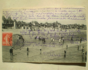 La Baule - 1908 - La Plage - Antique French Postcard