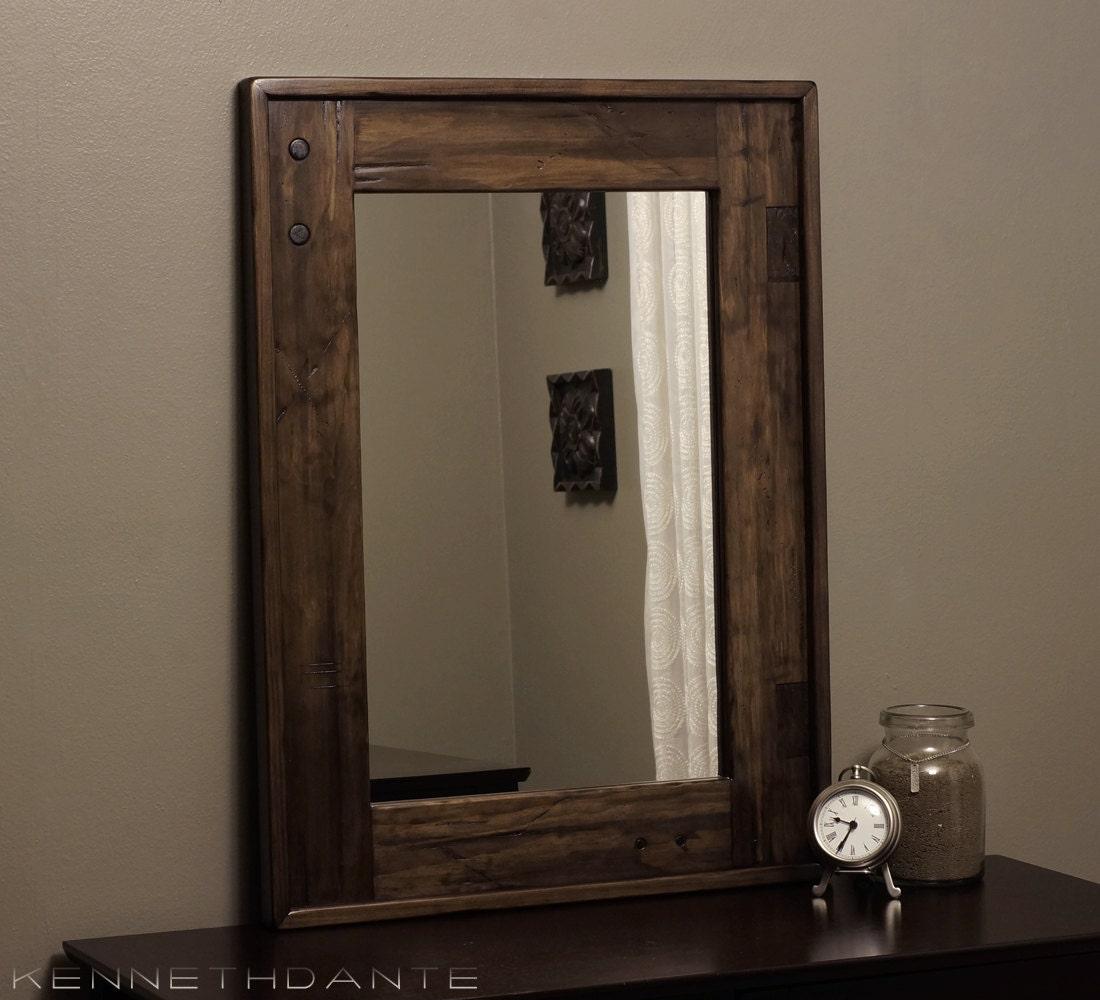 Modern Rustic Wood Mirror Distressed Barn Wood By Kennethdante