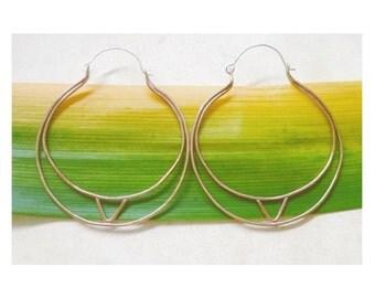 TRILUNAR // hoops in Brass & Sterling Silver
