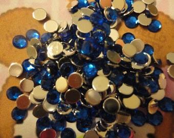 Kawaii royal blue rhinestone decoden deco diy 4 mm    more than 100 pcs--USA seller