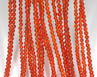 """3mm Red Agate Round beads full strand 16"""" Loose Beads P142714"""