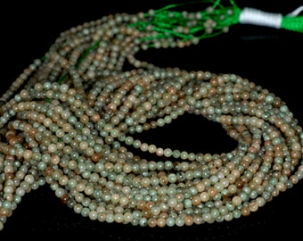 "2mm Jade Round beads full strand 16"" Loose Beads P142746"