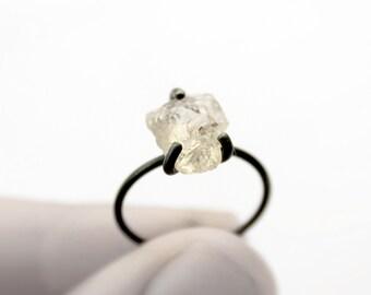 Rock - oxidized silver oregon sunstone ring - golden oregon sunstone oxidized sterling silver ring