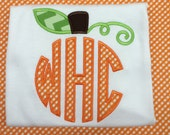 Little boys pumpkin shirt with monogram by gigibabies