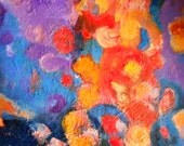 Sparkles- original oil abstract painting on canvas - 11,2 X 11,2 inches