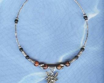 Fairy Cat Collar Pet Collar Handcrafted Gems/Silver FC-001