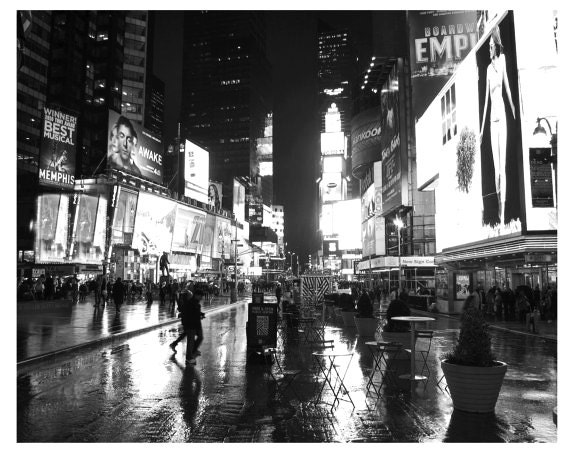 Art, Photography, Black and White, New York Art, Times Square, Urban, Wall Decor, Print, New York City, Cottage Light Studio