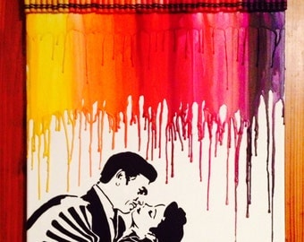 Gone with the wind Inspired melted crayon art