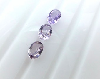 Spinel. Natural. Purple Oval Native Cut.  3 pc. 1.14 cts. 4x5 mm (SP185)