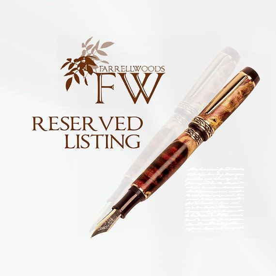 Reserved for Stefanie - Twirly Ink Blot and Black Blaze Writing Pens FREE Engraving