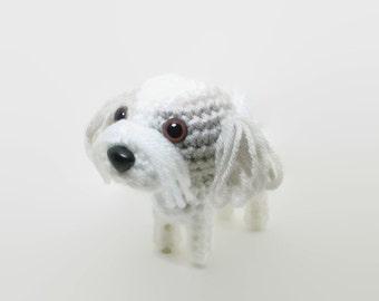 Shih Tzu Amigurumi Stuffed Animal Dog Crochet Puppy Doggie Plush Doll / Made to Order