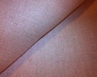 Coral Herringbone Wool Fabric / Sewing Craft Supplies / Suiting Fabric / Suitable for Jackets / Slacks / Suits