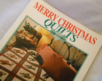 Quilt Pattern Book - Merry Christmas Quilting Patterns - Patchwork and Applique Patterns - Holiday Sewing