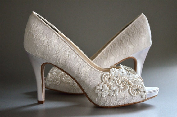 Lace Wedding Shoes Womens Bridal