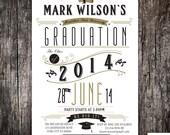 High School or College university Graduation invitation announcement - Printed or DIY