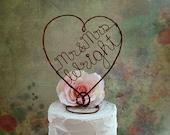 Mr & Mrs, Last Name Rustic Wedding Cake Topper, Personalized Rustic Wedding Cake Decoration, Rustic Centerpiece, Bridal Shower Decoration