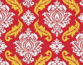 SALE! Damask in Red Joel Dewberry Fabrics True Colors Fabric One Yard
