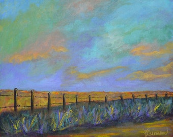 Down Home print of acrylic painting